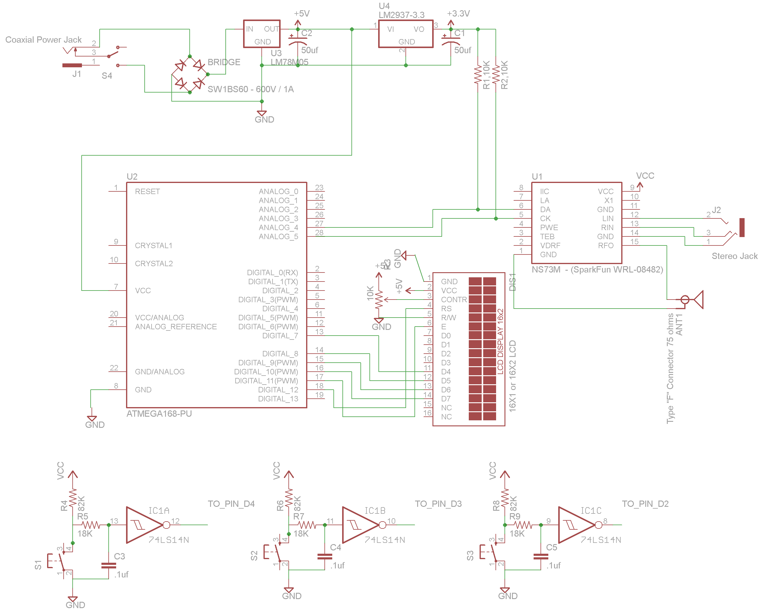 FM Stereo Broadcaster - Schematic (partial)